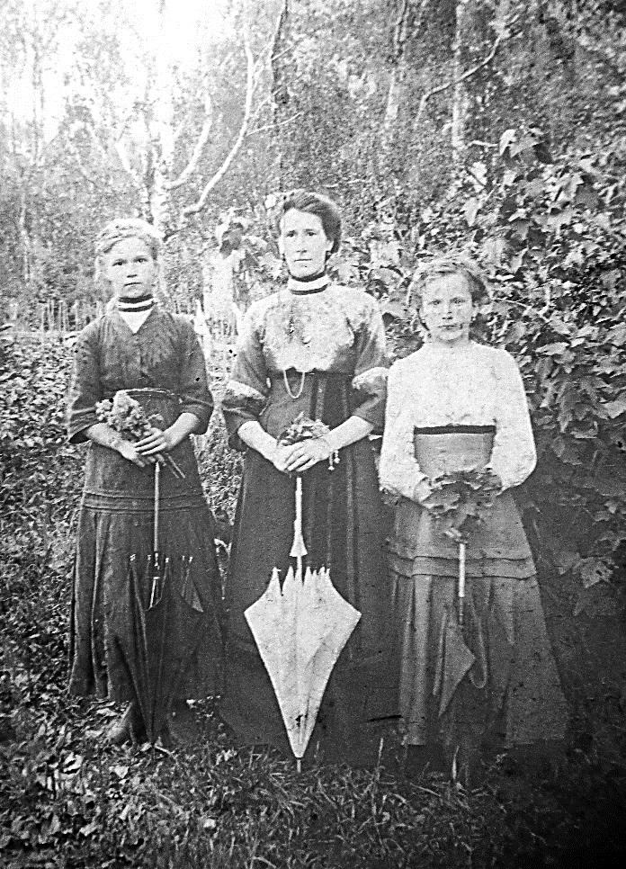 Екатерина, Евдокия и Прасковья Гавриловы Гладь 1911-1912