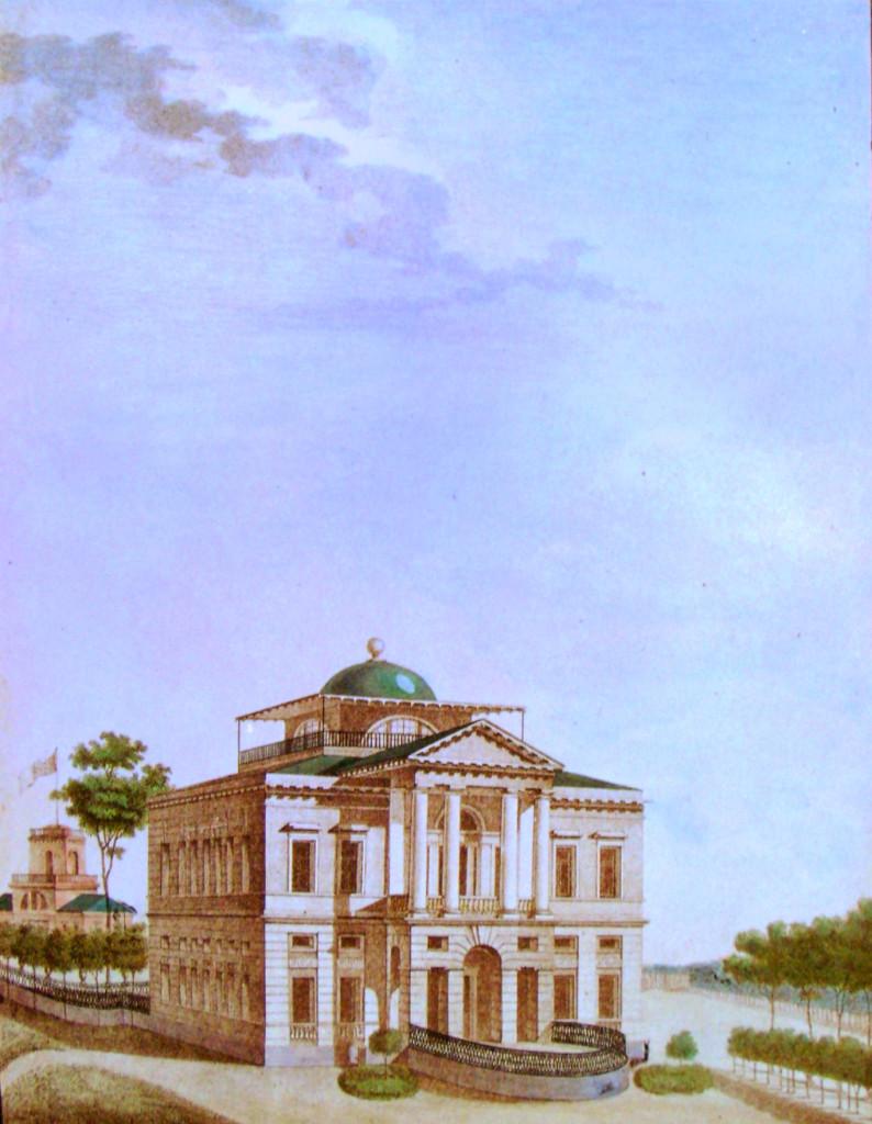 16. Вид каменного дома в саду. Р А. П. Павловский в 1823 году.