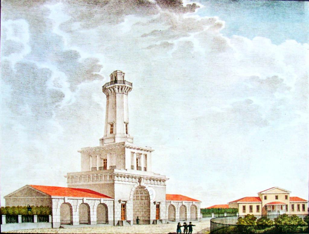 32. Вид Грузинской полиции с каланчею. Р И. Семенов. 1824.